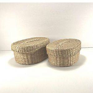 Other - Vintage pair woven sweet grass nesting baskets